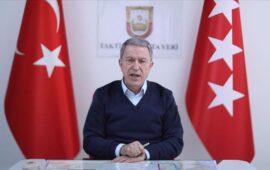 """Hulusi Akar: """"Atəşkəs pozularsa, qaldığımız yerdən davam edəcəyik"""""""