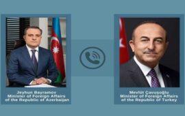 Ceyhun Bayramov Mövlud Çavuşoğlu ilə telefonla danışdı