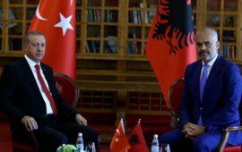 Ərdoğan Albaniyanın Baş naziri ilə görüşüb