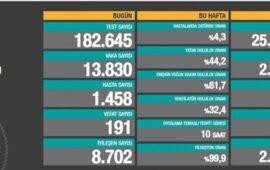 Türkiyədə COVID-19-dan 191 nəfər ölüb